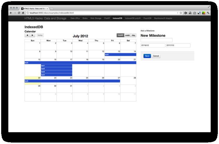 Build a Milestone Calendar with IndexedDB and FullCalendar